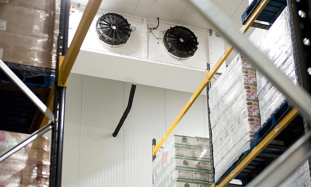 Picture of an evaporator within a coldroom