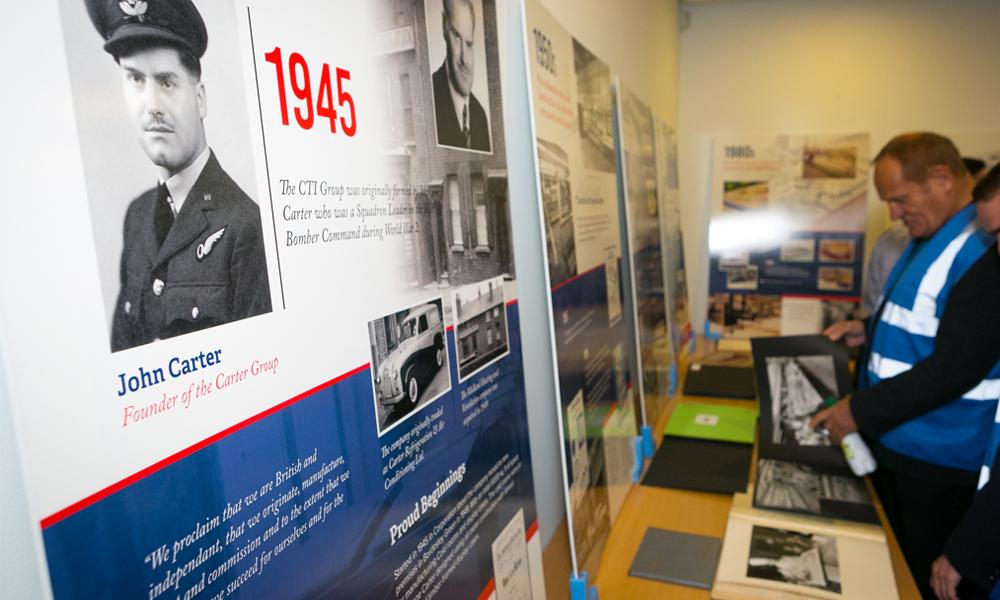 CTI Group History Display Boards