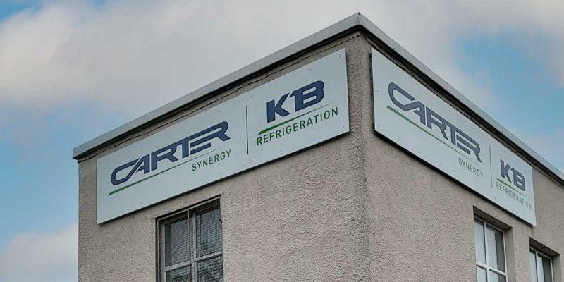 KB Refrigeration Building Signage